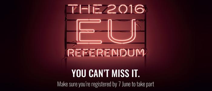 EU Referendum: don't forget to register